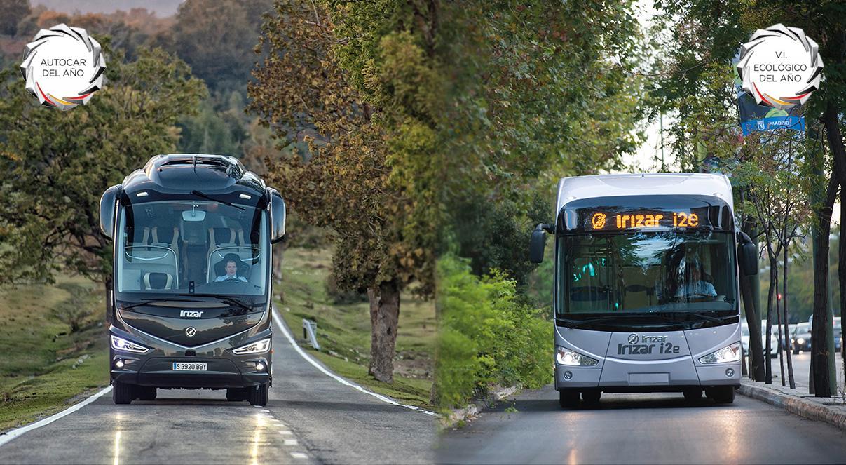 El autocar Irizar i8 y el autobús 100% eléctrico del Grupo Irizar, Premios Autocar del año y Vehículo Industrial Ecológico del 2016 en España