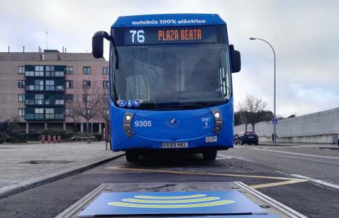 La EMT de Madrid estrenará su primera línea 100% eléctrica con carga por inducción