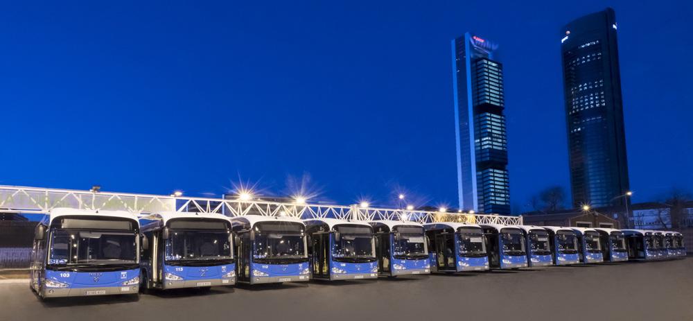 La EMT de Madrid inaugura 15 autobuses eléctricos ie bus de Irizar